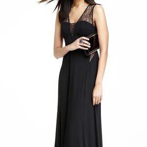 BCBGMAXAZRIA Lace-Insert Knit Maxi Dress, Black